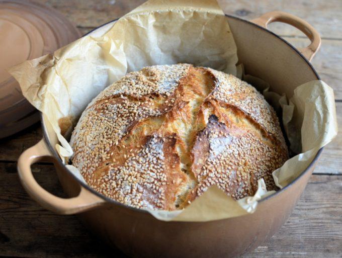 Sesame Sourdough Bread