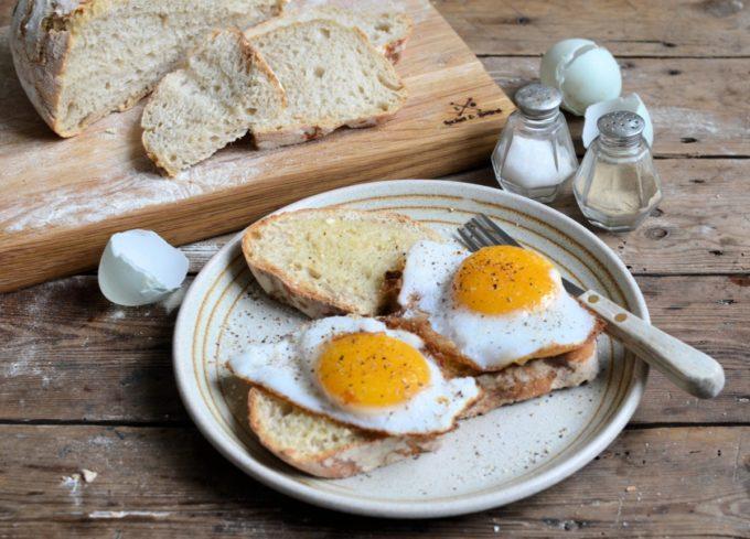 duck eggs on toast