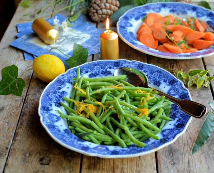 Citrus butter green beans