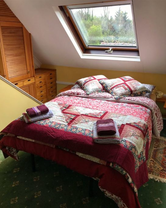 "he ""Attic Bedroom"" which is the only room that is upstairs. This bedroom is en-suite. There is complimentary tea and coffee making facilities, ample storage and hanging space with comfortable easy chairs."
