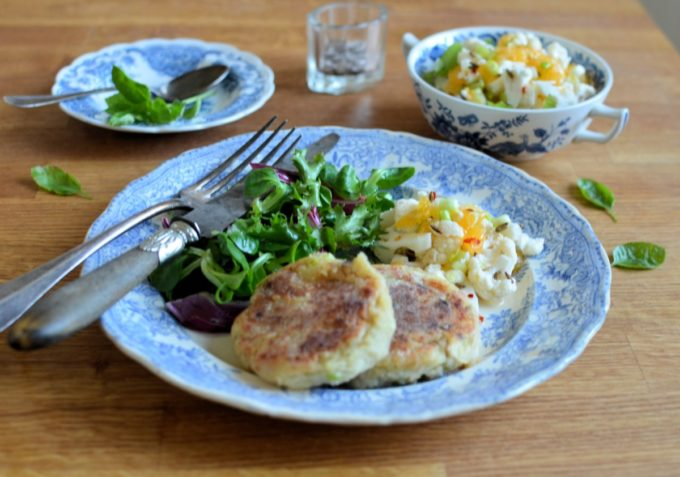 Turkey Hash Cakes and Quicke Pickle (