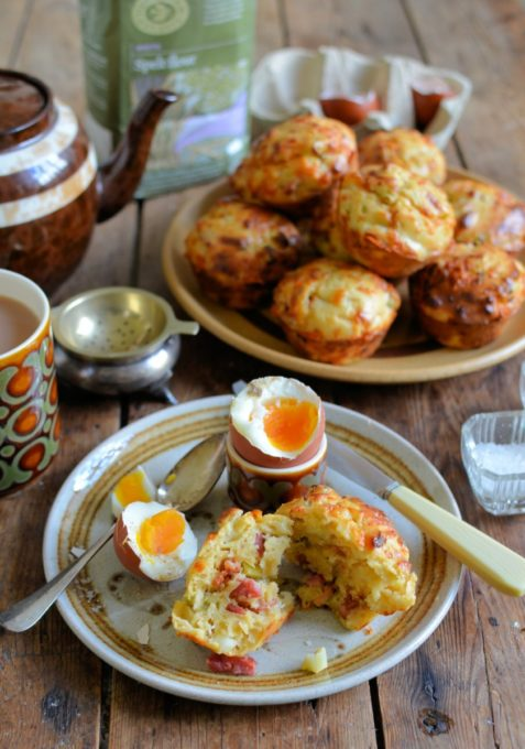 Bacon Cheese & Onion Spelt Muffins (
